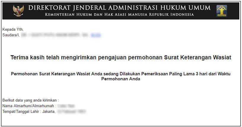 Wasiat Ahu Online