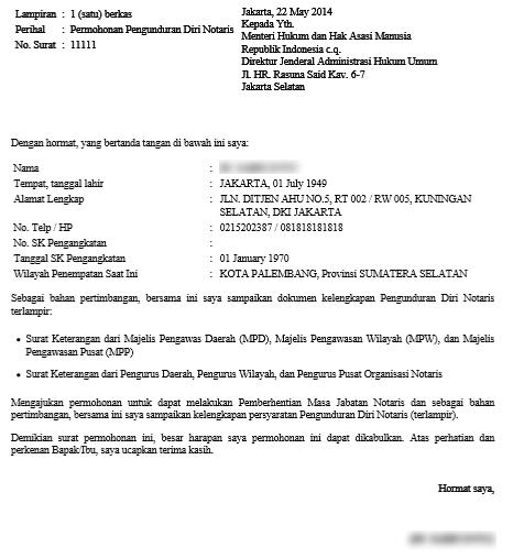 17+ Contoh surat pengunduran diri karyawan notaris terbaru terbaik